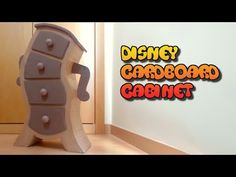 DIY Disney furniture, cardboard furnitures, carton drawers. - YouTube