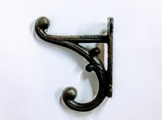 6 rustic hooks  rustic hook cast iron hook cast iron by miscpark