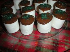 Sweet treats for anytime or occasion. For the kids or dinner parties.This recipe comes from Real Simple February 2009. In 10 minutes you have a great dessert or sweet snack with few ingredients. We made them for the holidays and topped with green sprinkles but you can top with anything your heart desires. The site wouldnt let me use just topping so I had to put ice cream topping but there is no ice cream involved here. You get the idea though. Enjoy this little ditty. ChefDLH