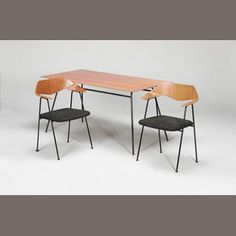 Robin day table and chairs