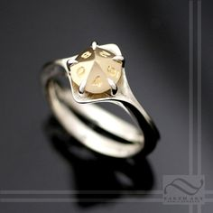 D10 Engagement ring in Mixed Metals