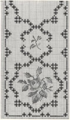 Hardanger chart. You can use the fill in motif of your choice. A rose, a daffodil or any motif that will fit. ~ Brenda