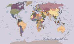 Térkép vlies poszter, fotótapéta 2142VE- több méretben