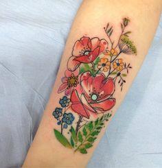 Aga Yadou flower tattoo