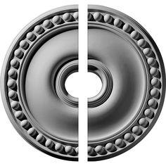 Ekena Millwork 19-1/8 in. O.D. x 3-1/2 in. I.D. x 1 in. P Foster Ceiling Medallion (2-Piece)