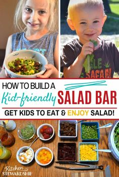 These salad bar ideas will make your salad bar a kid-friendly dinner! Summer dinner ideas to add to your meal plan! Healthy Fats, Healthy Life, Healthy Eating, Real Food Recipes, Healthy Recipes, Salad Recipes, Salads For Kids, How To Eat Better, Family Meals