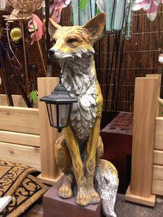 Fox statue.