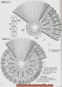 Caminho de mesa em círculos de crochê