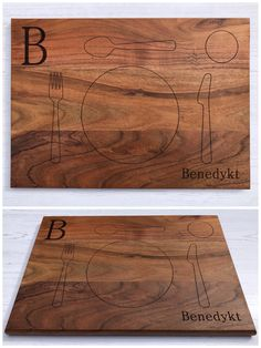 Personalised Solid Acacia Wood Children's Place mat - Kids Toddler Placemat Table Mat Montessori Engraved Wooden Practical Life Name Faux Marble Dining Table, 19 Month Old, Practical Life, Kids Wood, Letter Recognition, Acacia Wood, Wood Grain, Wooden Toys, Natural Wood
