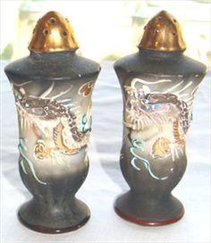 Vintage Dragonware Salt and Pepper Shakers