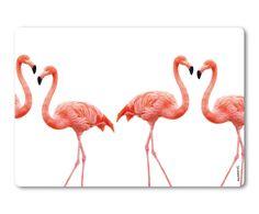 Spatscherm Dancing Flamingos, wit/roze, 59 x 41 cm | Westwing Home & Living