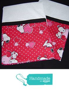 Snoopy loves Valentines Day Pillowcases from DimasGramsQuilts http://www.amazon.com/dp/B01AKRA034/ref=hnd_sw_r_pi_dp_vHYLwb085C0H1 #handmadeatamazon