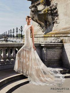 Robe de mariée Sorbonne, collection 2018, robe de mariée bohème et moderne - Pronuptia