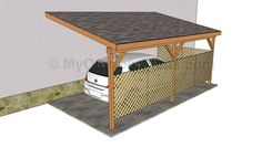 DIY Attached metal car port. Carport. Garage. Home improvement. Car protection.