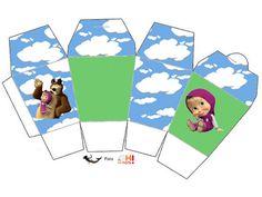 Festa a tema Masha e Orso: schemi gratis per costruire tutto l'occorrente!   Creare con la carta ♥