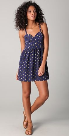 "State & Lake ""Pineapple Bustier mini dress"""