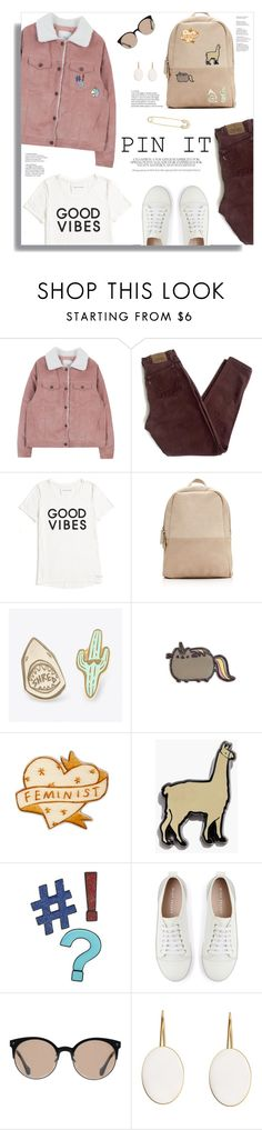 """Pins With Personality (Contest Entry)"" by jafashions ❤ liked on Polyvore featuring Levi's, Tommy Hilfiger, Madewell, Design Lab, Mint Velvet, Balenciaga and Sydney Evan"