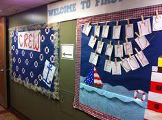 Nautical themed bulletin boards