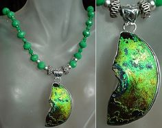 Teal Crystals c/w Teal Spacer Crystals Necklace c/w by camexinc, $70.00