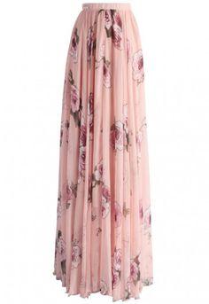 Pink Rose Panache Maxi Skirt - Skirt - Bottoms - Retro, Indie and Unique Fashion Unique Fashion, Modest Fashion, Fashion Dresses, Apostolic Fashion, Apostolic Style, Fashion Fashion, Modest Outfits, Skirt Outfits, Dress Skirt
