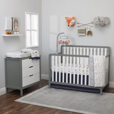 Decorating the nursery for your bundle of joy is a real pleasure, and like most parents, you will probably put more effort into getting that room just...   Elephant Head Plush Wall Hanging #NurseryWallDecor #NurseryDecor #WallDecor #NurseryWalls Orange Bedding, Grey Bedding, Baby Nursery Furniture, Nursery Room Decor, Crib Bedding Sets, Crib Sheets, Bedding Collections, Cribs, Elephant Head