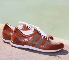 Jules & Jenn - Les Sneakers bi-matière cuir cognac #fashion #mode #durable #boots #men • www.julesjenn.com