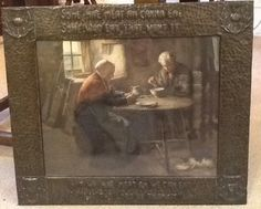 Framed size measures inches x 21 inches. Frame Sizes, Picture Frames, Copper, Arts And Crafts, Pictures, Painting, Picture Frame, Painting Art, Brass
