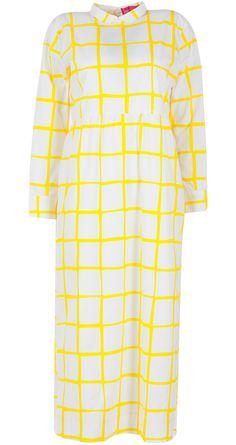 Checkered dress by NISHKA LULLA. Shop at http://www.perniaspopupshop.com/whats-new/nishka-lulla-checkered-dress-nlc0813nis19.html