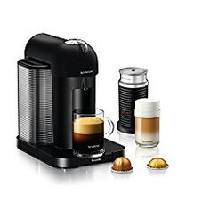 The Nespresso Vertuo Coffee and Espresso Machine is a major contender in the espresso machine lineup. This capsule-based system is a great way to get your fix fast. Nespresso has a plethora of flavors to choose from with several variety packs so you can try them all! This one-touch system does it all. Nespresso has made this incredibly convenient, easy-to-use coffee and espresso machine in several stylish colors- perfect for your classy kitchen!
