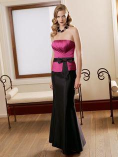 A-Line Silky Taffeta Strapless Mother of the Bride Dress with Floor Length ML70319 - Wedding Dress Shop