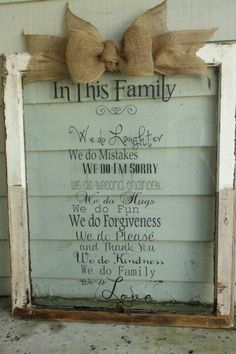 Love this window with burlap bow pinned with Pinvolve - pinvolve.co