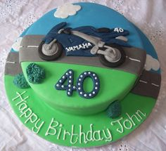 round cakes for men - yahoo Image Search Results Motorcycle Birthday Cakes, Motorcycle Cake, Boys First Birthday Cake, 40th Birthday Cakes, Motor Cake, Bike Cakes, Dad Cake, Different Cakes, Novelty Cakes