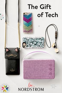 Turn tech into a fashion statement with stylish speakers, headphones and phone cases for everyone on your list. Make this your best gift giving season yet at Nordstrom.