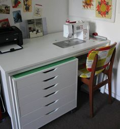 Cheeky Cognoscenti: Fabulous DIY Sewing Cabinet: Badskirt's IKEA Hack