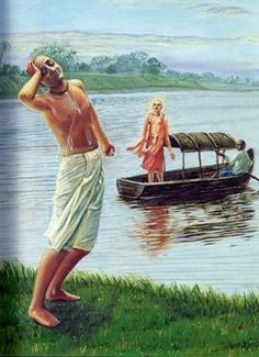 """ilookatyourshoes:  """"O self-illuminated one, the great saintly persons who have crossed over the ocean of nescience by the help of the transcendental boat of Your lotus feet have not taken away that boat. It is still lying on this side."""" KRSNA Book, chapter 2"""