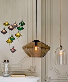 Luxury glass hanging light