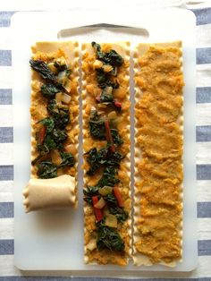 sweet potato and chard lasagna rolls are a great healthy dinner. This recipe is part of a weekly meal plan series and includes 4 other delicious vegetarian family dinner recipes & ideas!
