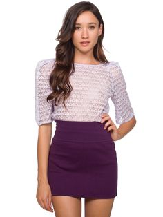 If American Apparel were a man, I would marry him in a snap. This beautiful skirt speaks for itself - they do love to keep it simple, which is great, as you can chop and change outfits with ease.