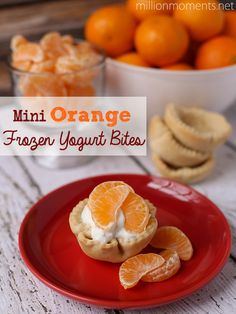 These Orange Frozen Yogurt Bites are easy, delicious and great for a balanced diet!