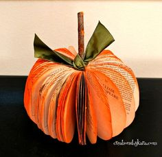 Book Page Pumpkin!