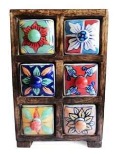 Amazon.com: Mothers Day Gifts for Mom Decorative Wood Ceramic Jewelry Storage Organizer Armoire Cupboard 6 Drawers Birthday or Anniversary Gift Ideas for Women & Girls: Home & Kitchen.
