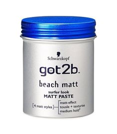 GOT2BE BEACH MATT PASTE 100ML. Got2b Beach Matt Paste provides a strong, durable, yet flexible hold. It shapes and sculpts hair in order to obtain extreme effects. Shapes each hairstyle. Does not weigh hair down. | eBay!