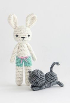 Fred bunny and cat pattern I http://www.ravelry.com/designers/ja-poolvos