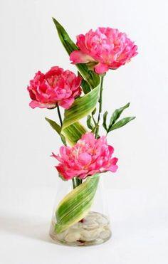 """composition vase bouquet de tulipes """"real touch"""" fleurs"""