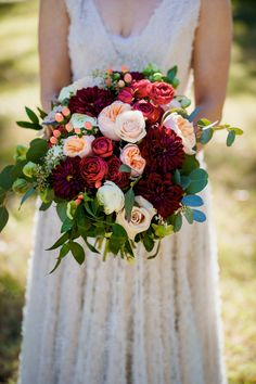 This bouquet of dahlias and Joliets simply makes our hearts sing! Photo Credit: The Kenney's