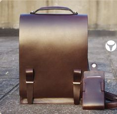 Superior Genuine Cow Leather Messenger / Briefcase / Shoulder Bag / Men's Bag in Chocolate. $222.00, via Etsy.