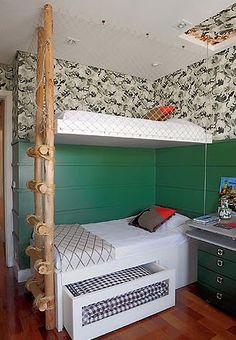 Decoração do quarto: camas suspensas
