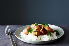 Ultimate Chicken Tikka Masala recipe on Food52.com: chicken tikka without sauce marinated in yogurt overnight