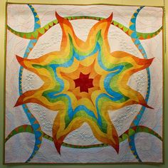 Philippa Naylor - Awesome #patchwork on this sunburst #quilt