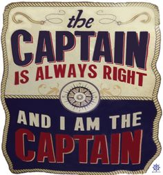 A funny boating t shirt design at: http://www.captntom.com/fishing-t-shirt-boatique/shop/3186-funny-boating-t-shirt-i-am-the-captain/ - You'll find over 200 cool fishing, boating, hunting, funny and other t shirts here. Click image to comment on this design. Please Repin. #Captntom #FunnyBoating #Boating #BoatingShirts #BoatingTshirts